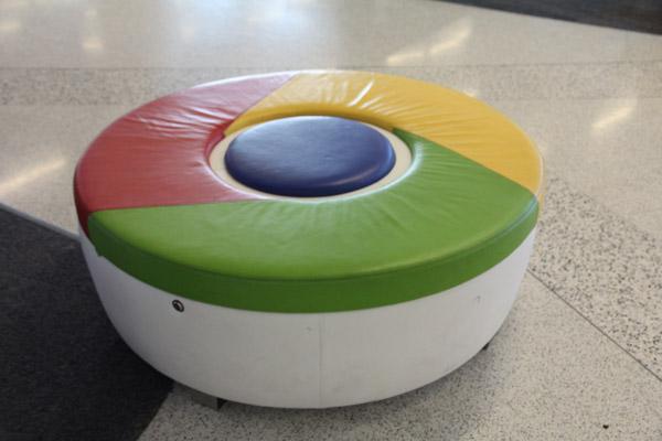 Chrome тахта в офисе Google Калифорния