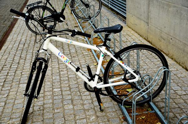Google велосипед на стоянке в Цюрихе