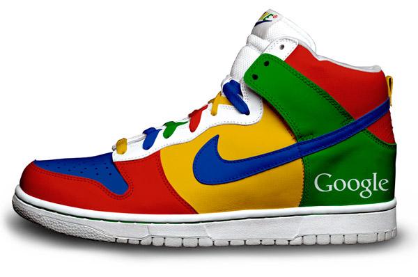 Nike дизайнерские кроссовки в стиле Google