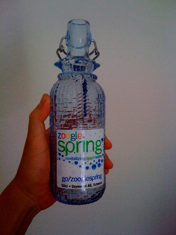 Zoogle - кислородная вода собственного производства от Google.