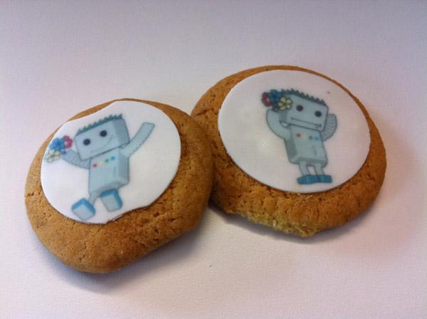 Печенье с изображением GoogleBot