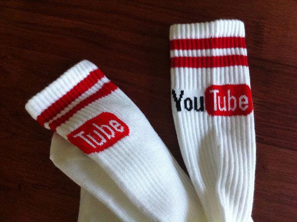 Носки с логотипом YouTube