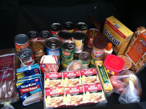 Еда в автомобиле