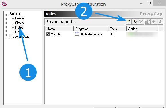 ProxyCap добавляем правило